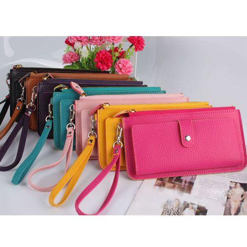 100% Women Fashion Pu Leather Wallet Clutch Case Purse Lady Long Handbag Bag 2dd1f77740f