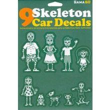 SKELETON CAR DECALS