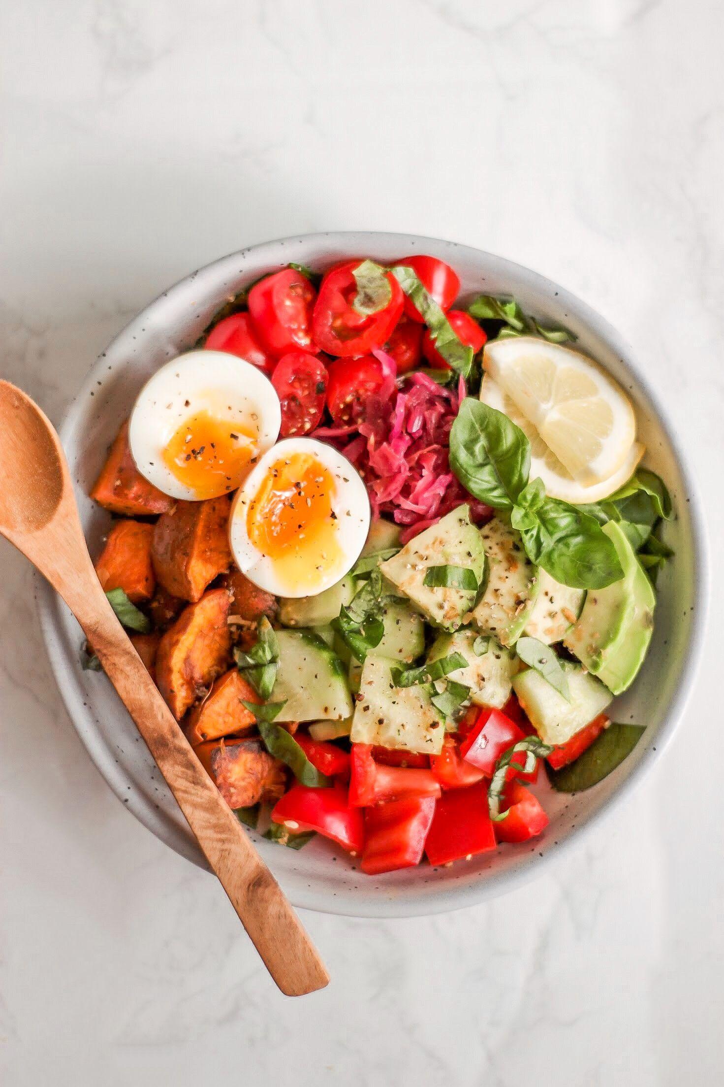 The Rainbow Bowl Recipe Salad recipes healthy lunch