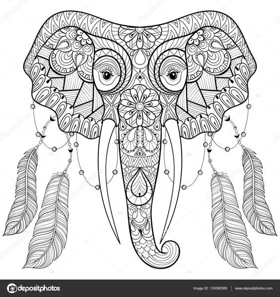 Pin de Barbara en coloring elephant | Pinterest | Sublimacion