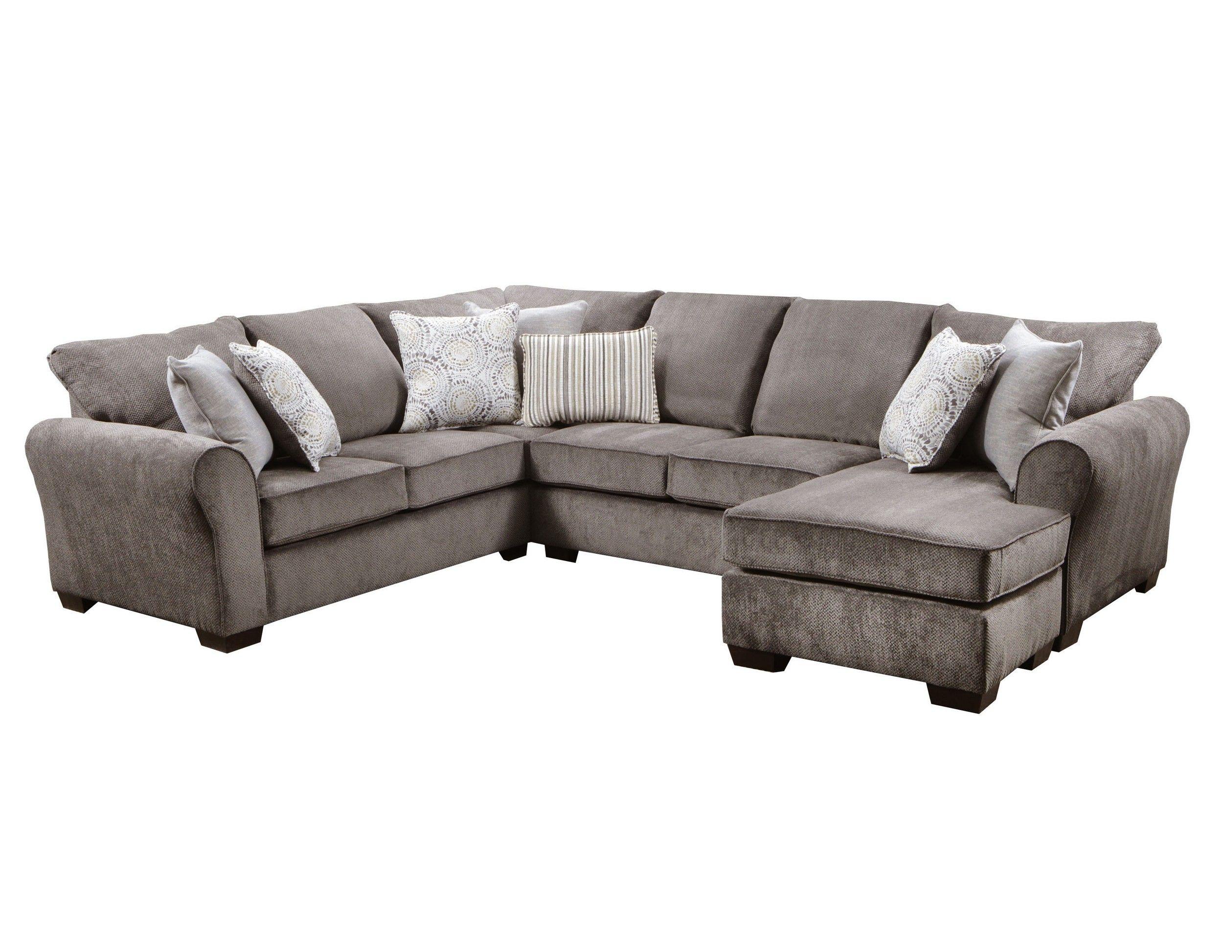 Simmons Upholstery Harlow Ash 2 Piece Sleeper Sectional Sofa