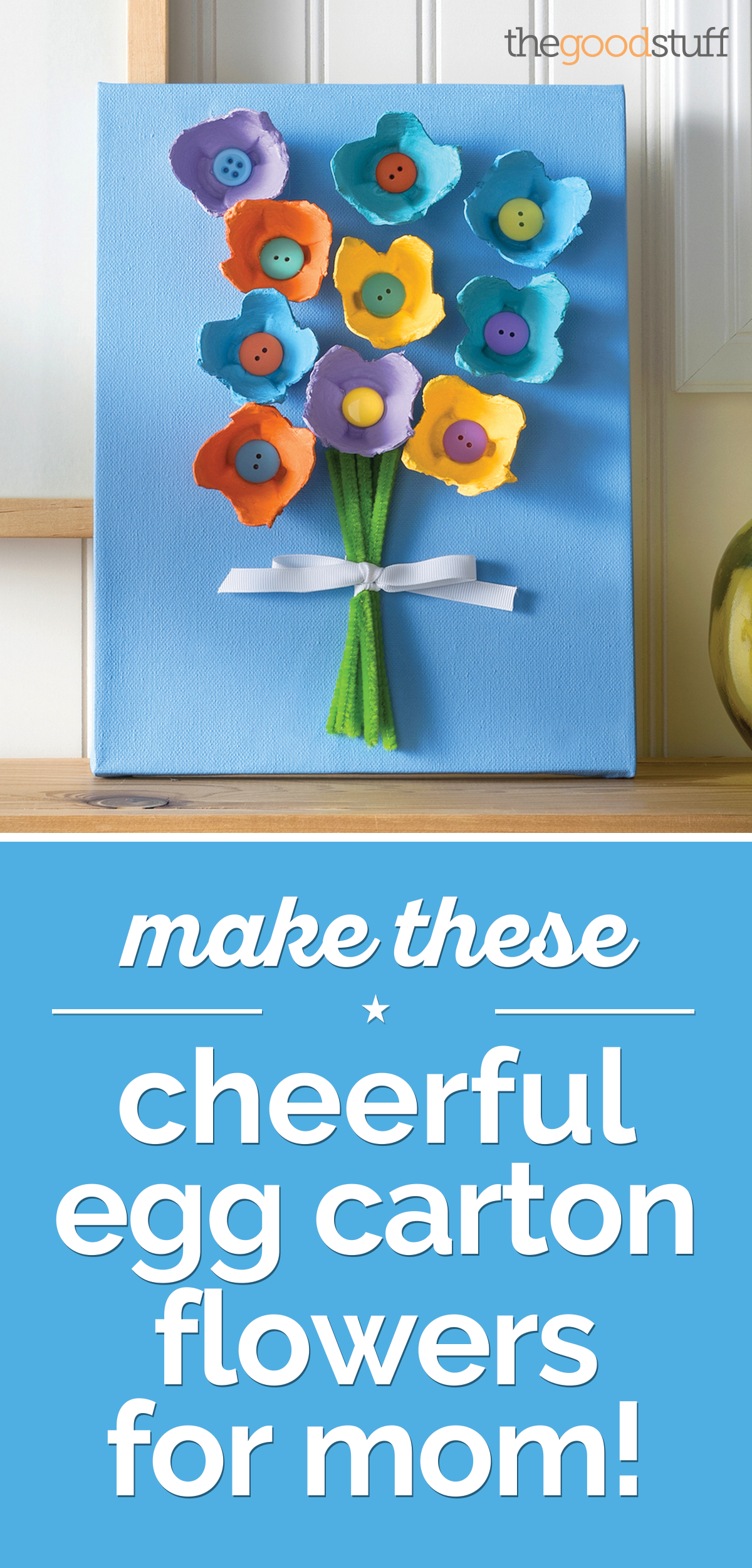 Make These Cheerful Egg Carton Flowers For Mom Diy Craft Ideas