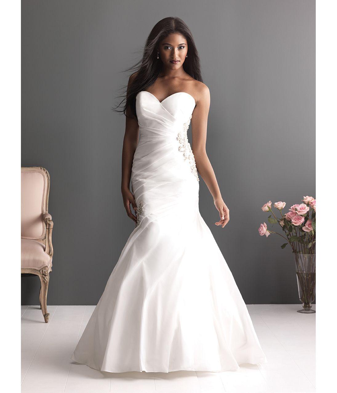 Drop Waist Diamond White Strapless Wedding Dress With: Trouwjurk, Bruiloft En Kleuren
