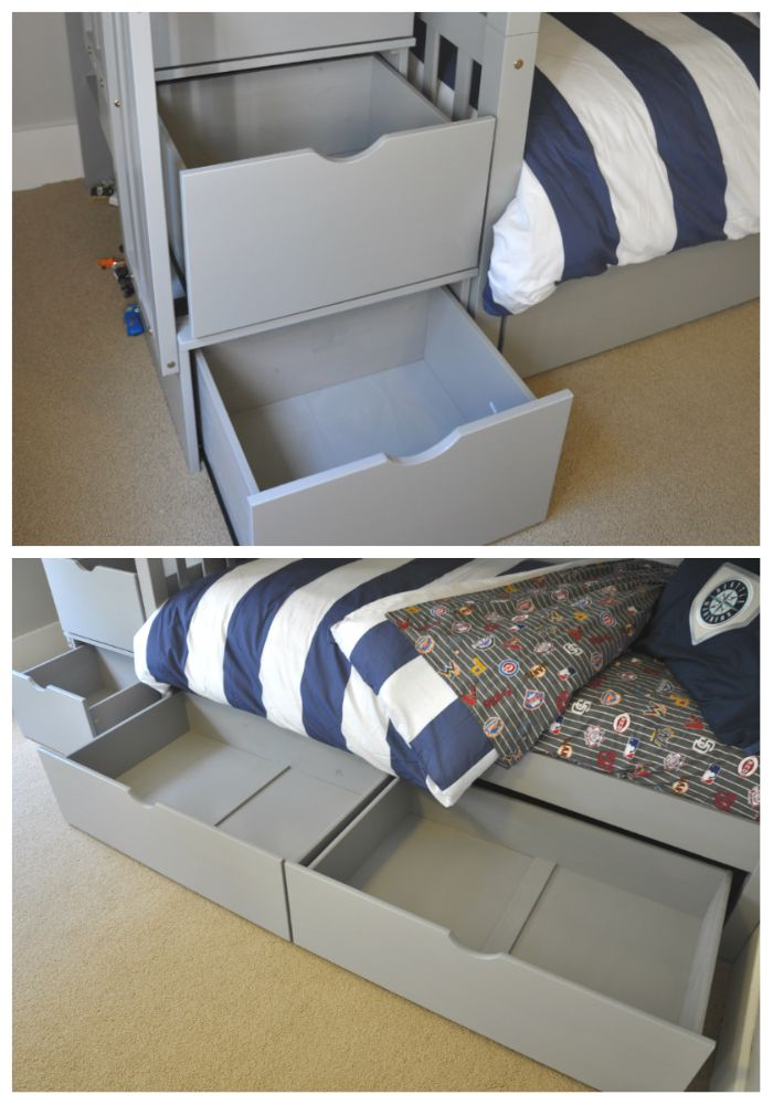 storage drawers under bed bed stairs kids bunk bed in 2019 quarto de crian a quartos crian as. Black Bedroom Furniture Sets. Home Design Ideas
