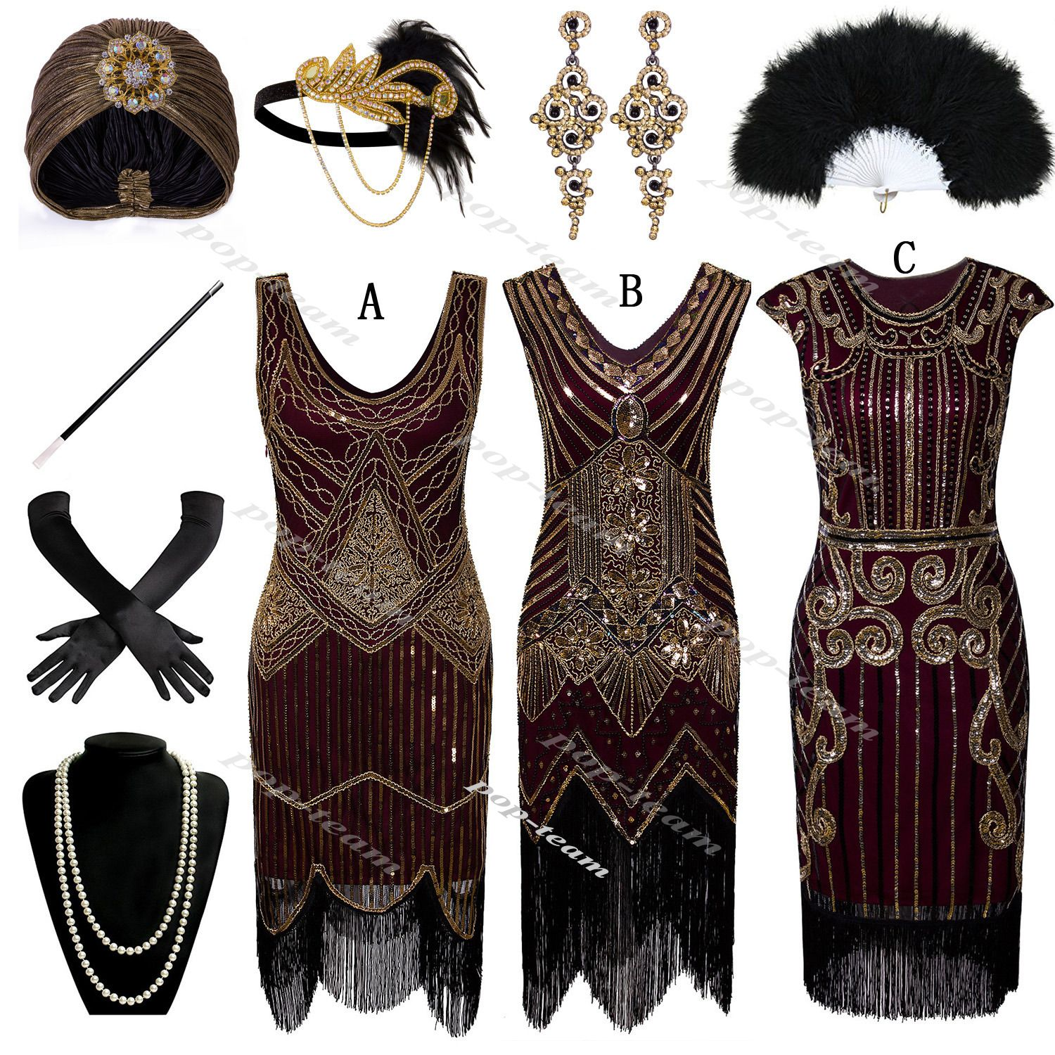 1920s Flapper Gatsby Party Evening Cocktail Dress Roaring 20 S Costume Plus Size Gatsby Party Outfit Roaring 20s Party Dress Roaring 20s Fashion [ 1500 x 1500 Pixel ]