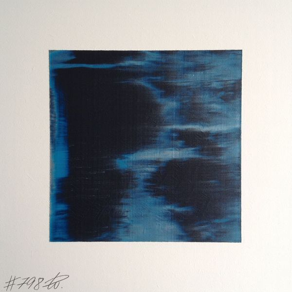 #798 | square abstract painting (original) | acrylic on white board | size approx. 9,5 x 9,5 cm | boardsize 15 x 15 cm | http://quadrART.kunstweber.com