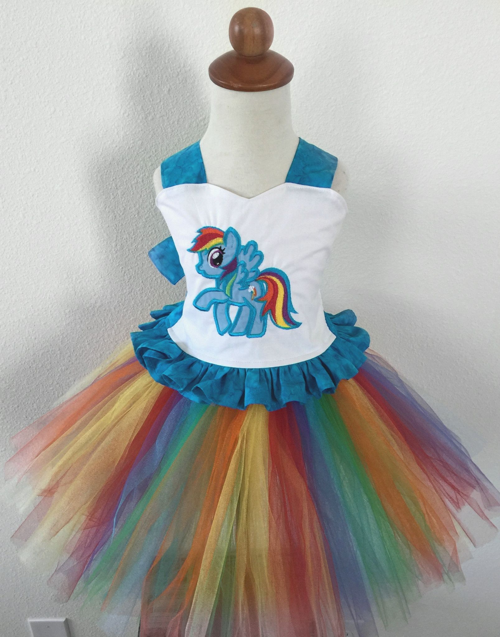 Blue and Pink My Little Pony Toddler Girls/' Tulle Dress Rainbow Dash