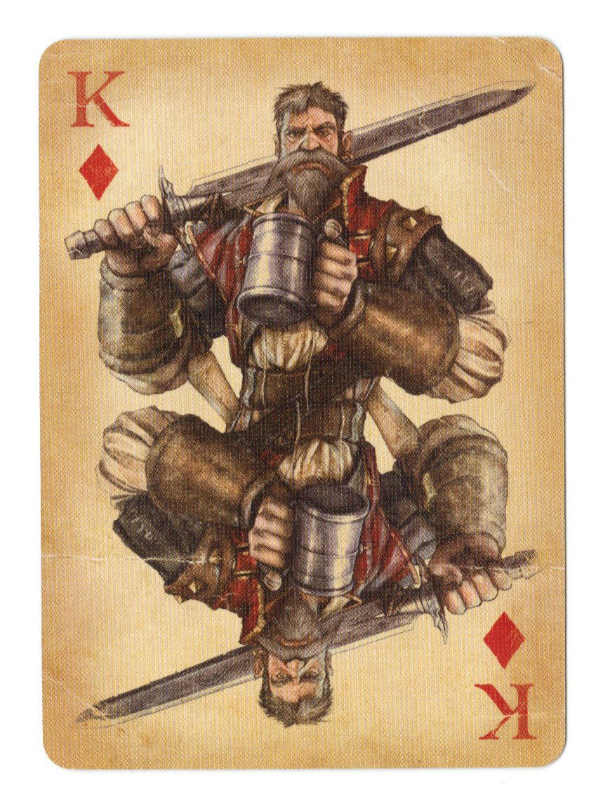 Fable cards king of diamonds by frostbitemelody