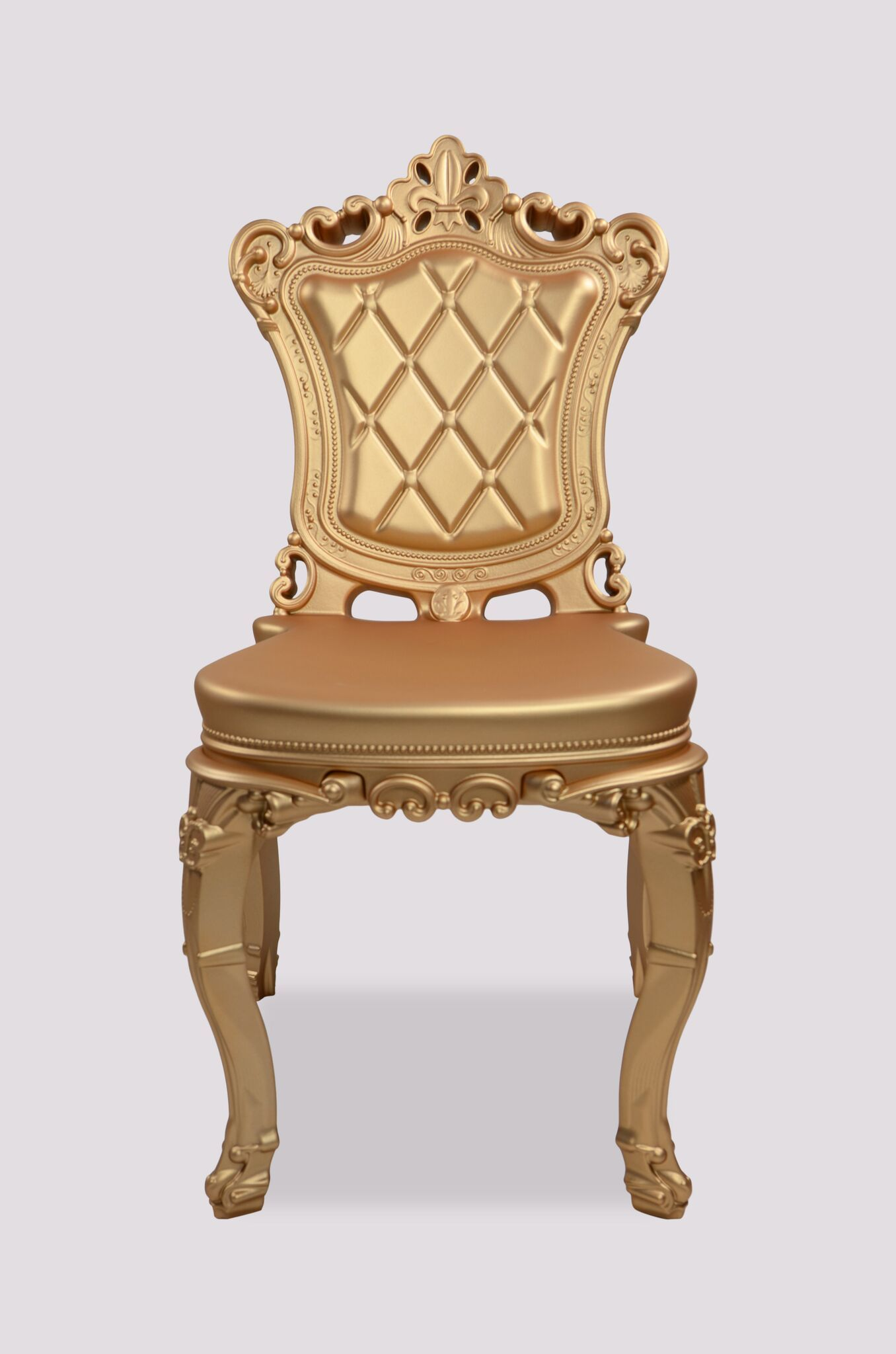 The Princess of Love owes its whimsical appearance to its baroque style, bright, modern color options, the exaggerated contours and intricate details that encompass each chair. The Princess of Love is an ideal chair for any type of indoor or outdoor setting, such as dining rooms, shops and restaurants as well as for contract. Made in Italy, Eco-friendly, resists color fading with a UV coat rating of 6, is scratch, shock and weather resistant and easy to clean!  Size: 36″H x 21″W x 21″D