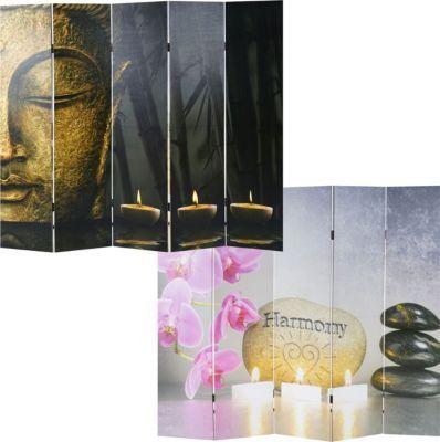 heute-wohnen Foto-Paravent Buddha, Paravent Raumteiler Trennwand
