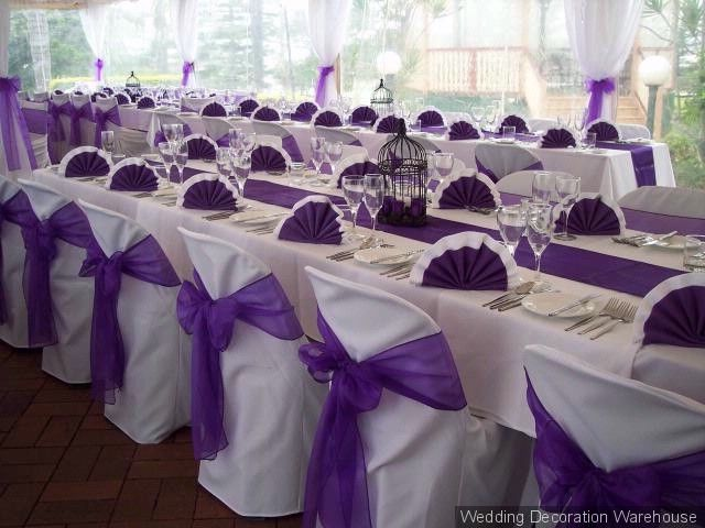 Purple Black And White Reception Ideas Satin Or Organza That Is