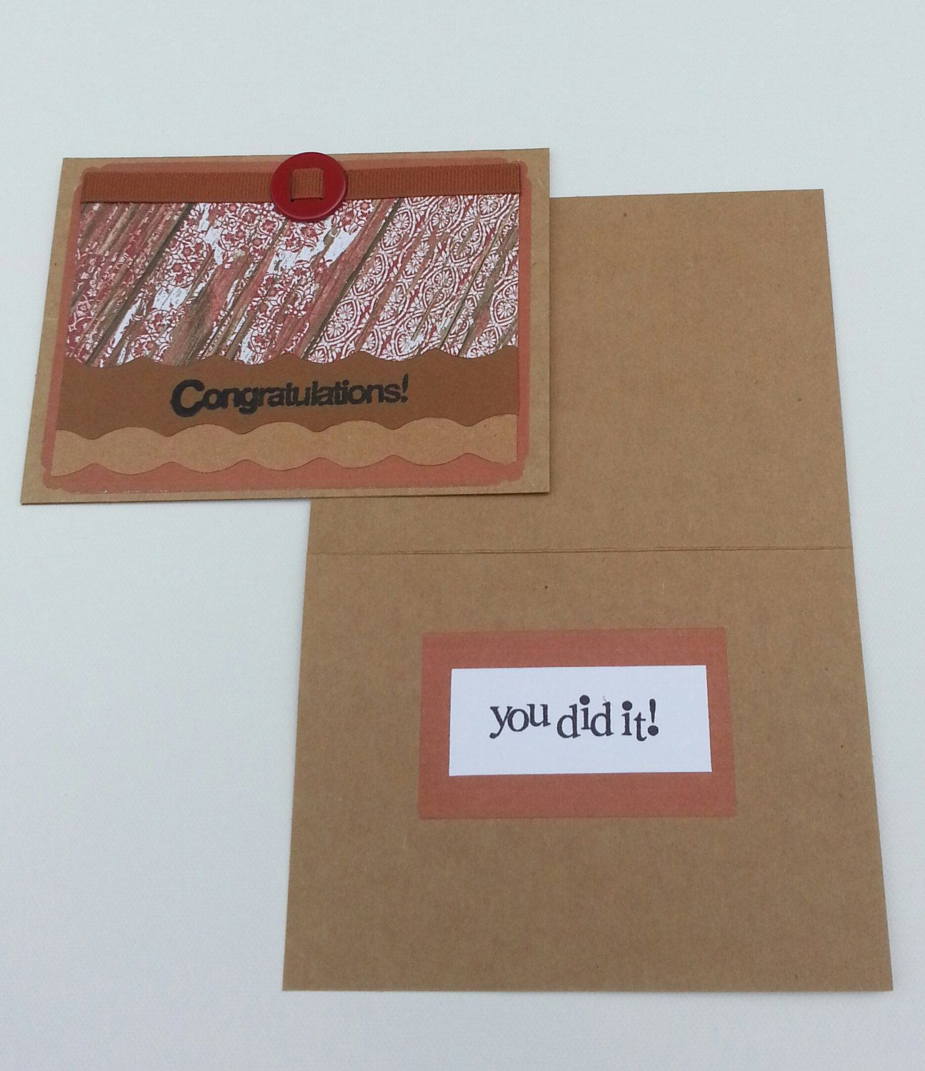 Congratulations!  You Dit It!  Handmade Greeting cards by DebsDooDadsShop on Etsy