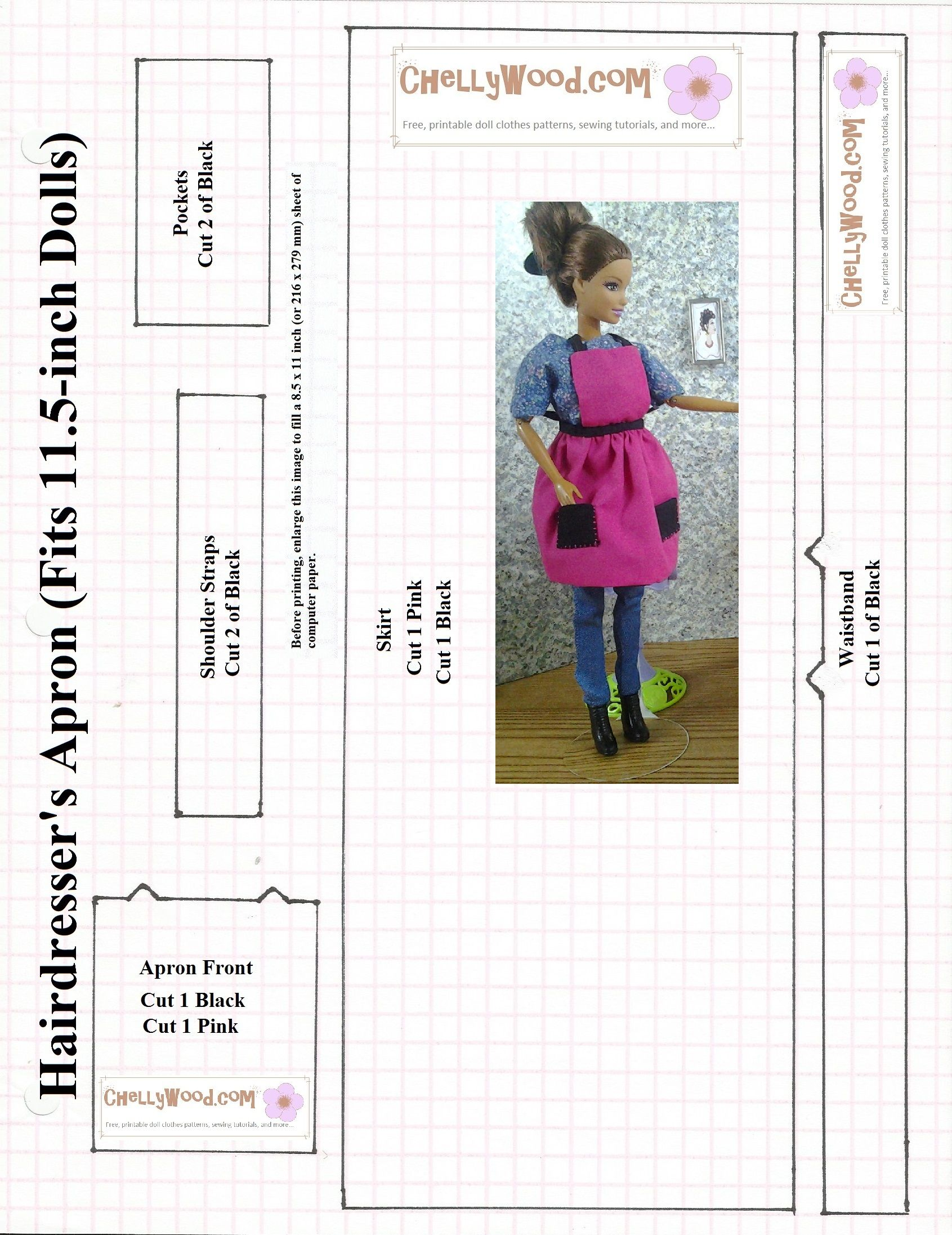 ChellyWood.com has a whole bunch of free sewing patterns for ...