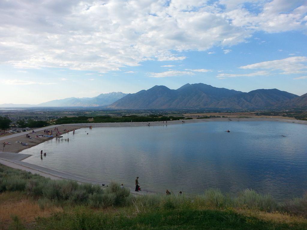 Spanish Fork Reservoir Natural Landmarks Beautiful Photo Reservoir