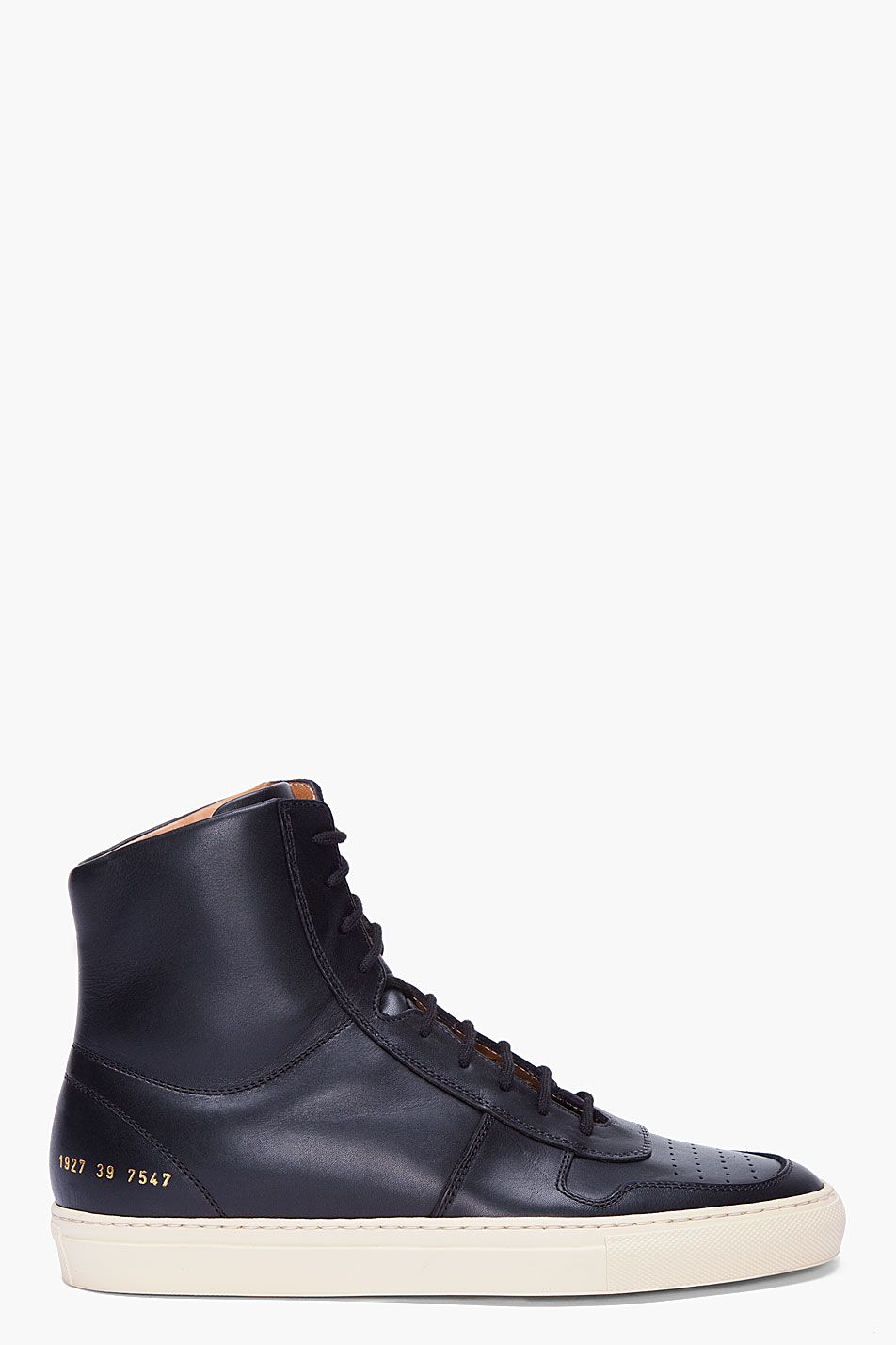 d7ad7320856f COMMON PROJECTS Black Vintage Basketball Sneakers