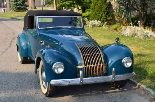 1948 Allard MI Drophead convertible blue with burgundy interior. This is an extremely rare and very collectible car. For only $49,500.