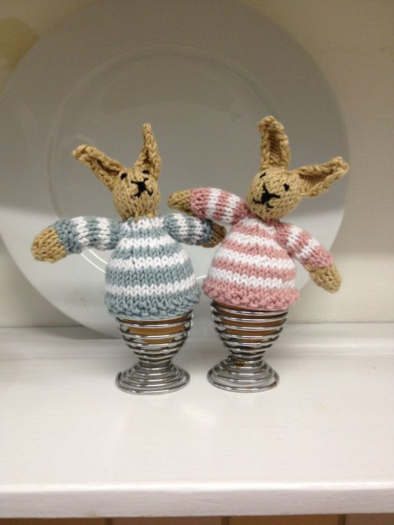 Babs & Barney Easter Bunny Egg Cosy Knit Kit by CottageKnitKits, £16.00 Cute and quirky x