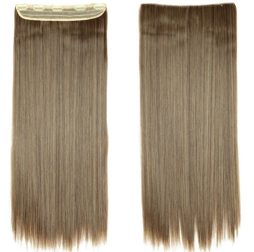 26 Inch Clip In Hair Extensions Half Full Head Straight Hairpieces