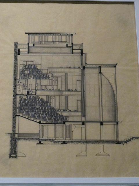 salle cortot de l 39 ecole normale de musique coupe transversale 1929 exposition auguste. Black Bedroom Furniture Sets. Home Design Ideas