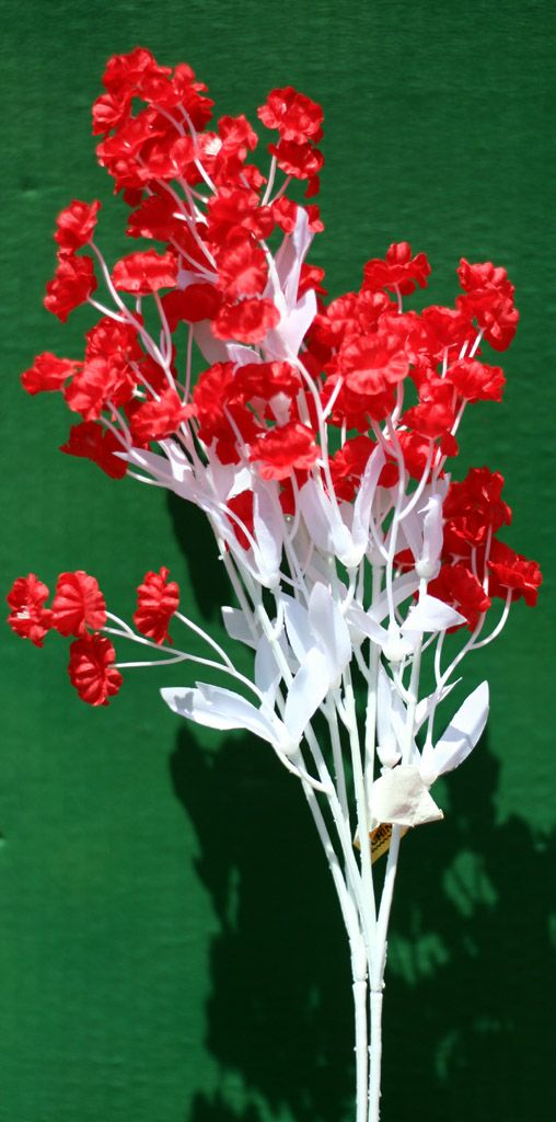 Small red silk flowers on white stem pretty flowers pinterest small red silk flowers on white stem mightylinksfo Choice Image