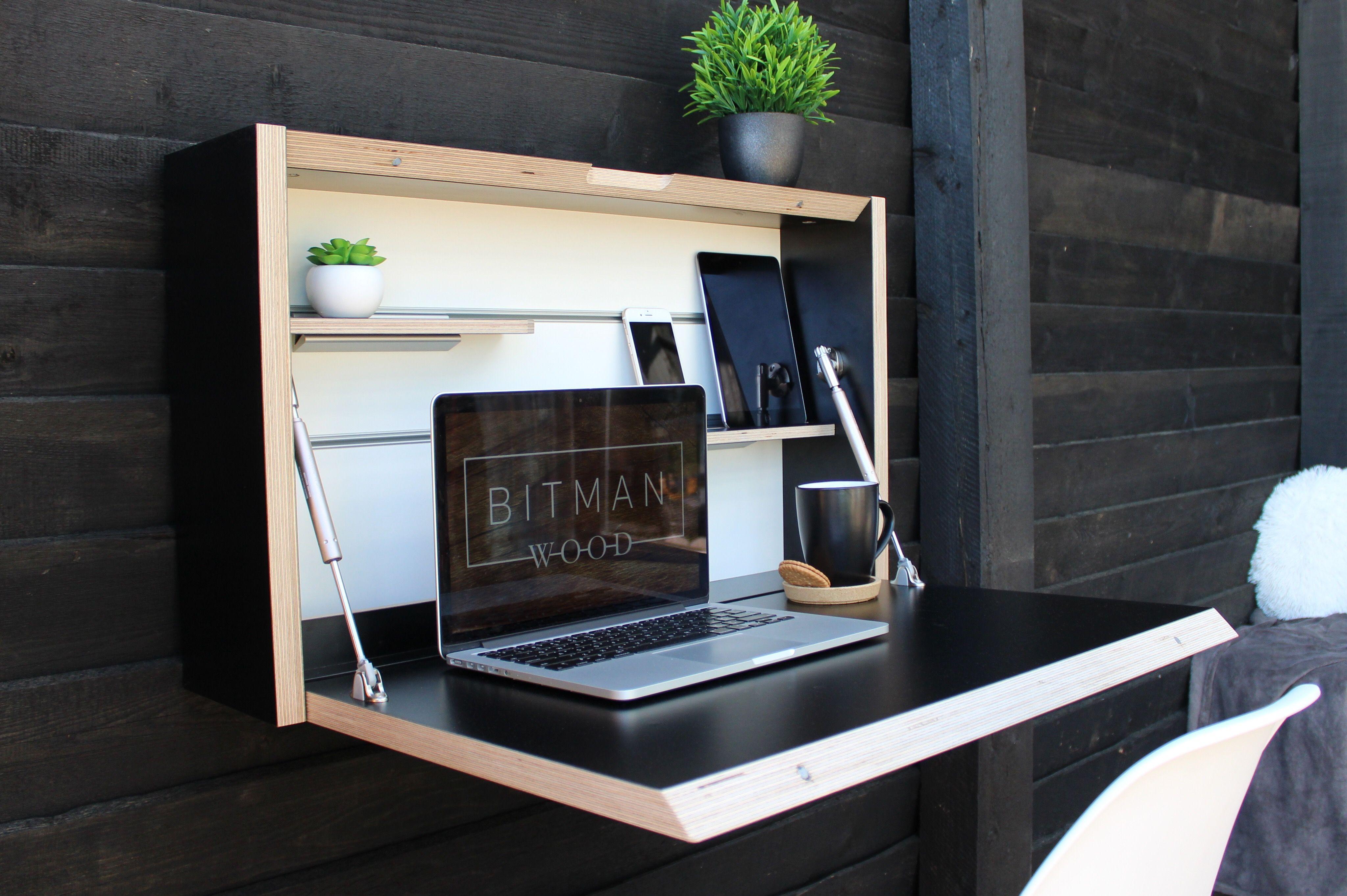 Home Office Desk Drop Down Desk Floating Desk Office Desk Etsy Space Saving Desk Folding Desk Drop Down Desk
