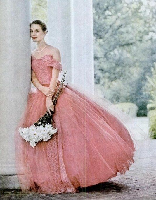 Perfect pink ball gown, ca. 1959 | VINTAGE IMAGERY & FASHION ...