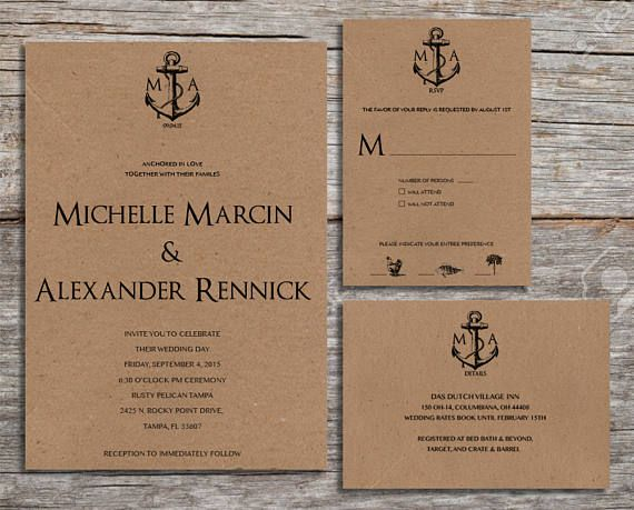 Pin by Taylor Langdon on Etsy Wedding Invitations Pinterest
