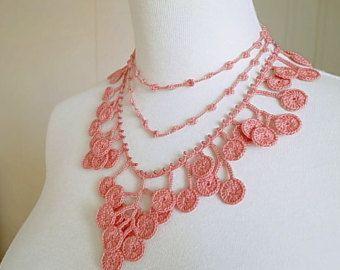 ec5c9a9a8afca Irish Crochet Lace Jewelry Butterfly Fiber Art by DorisChiStudio ...
