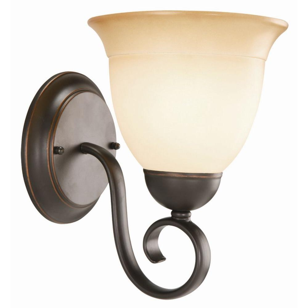 Design House 1 Light Oil Rubbed Bronze Vanity Sconce Bronze Wall
