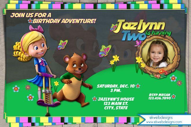 Goldie Bear Birthday Invitation Disney Photo Invitation