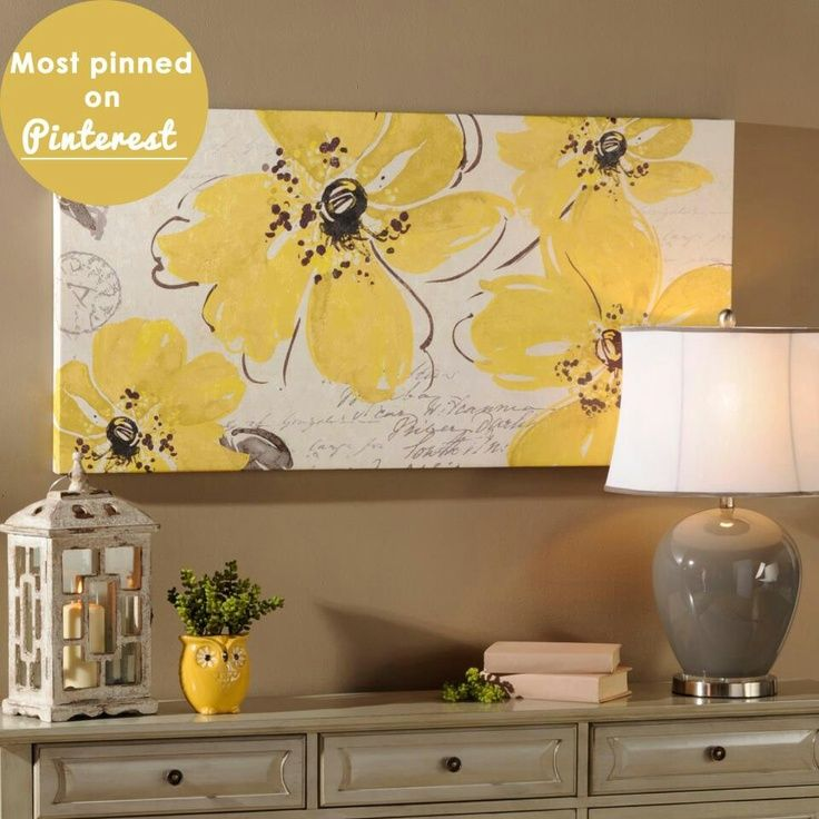 diy+art+canvas+in+yellow | Via Cindy Lunde | Wall decor | Pinterest ...