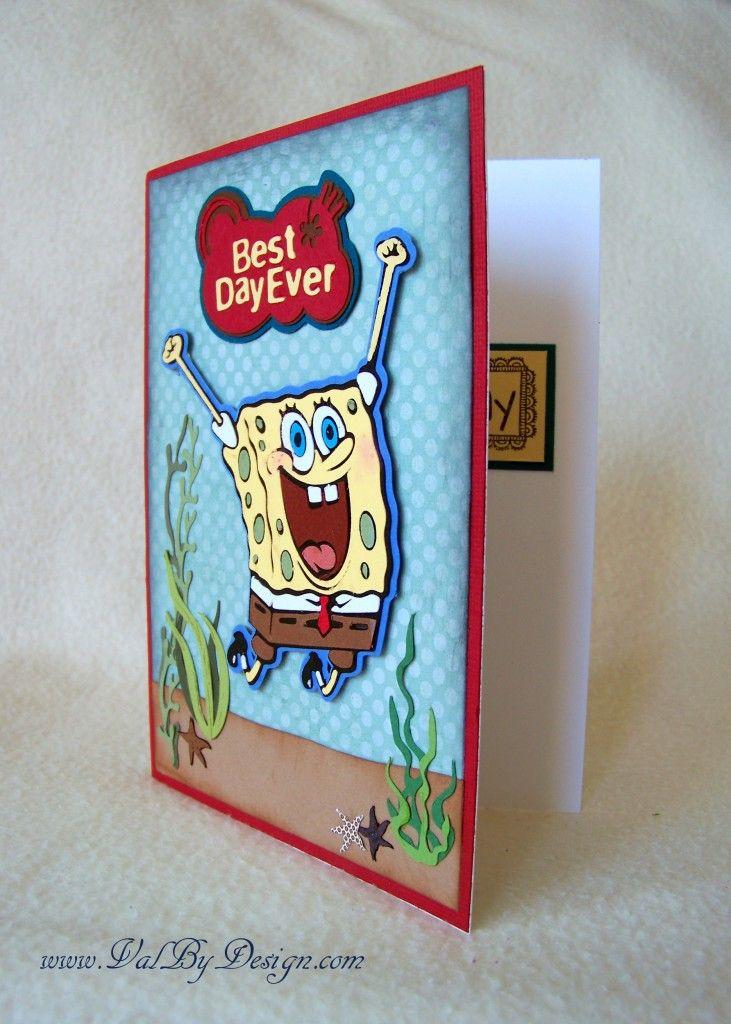 Images Of Cricut Machine Card Ideas Cricuts Spongebob Squarepants