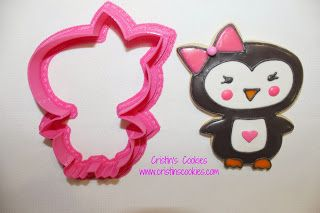 Penguin Cookie Cutters in stock here: www.cristinscookiecutters.com Cristin's Cookies: A Penguin Obsession - Cookies, Cookie Cutters & Tutorials
