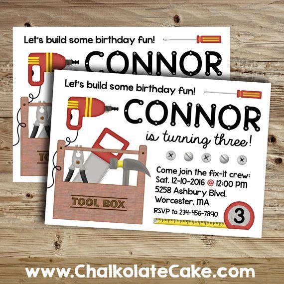 tool party invitation tool time birthday by chalkolatecake on etsy