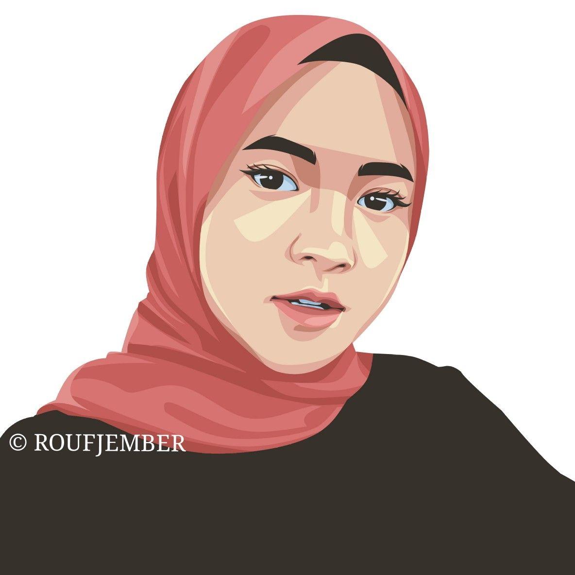 Nissa Sabyan Vector Fansart In 2021 Digital Art Tutorial Beginner Vector Art Digital Art Tutorial