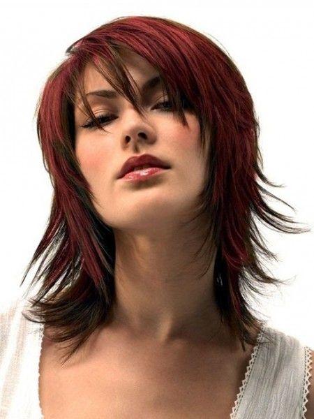 peinados moda u cortes de pelo en capas para el pelo largo medio
