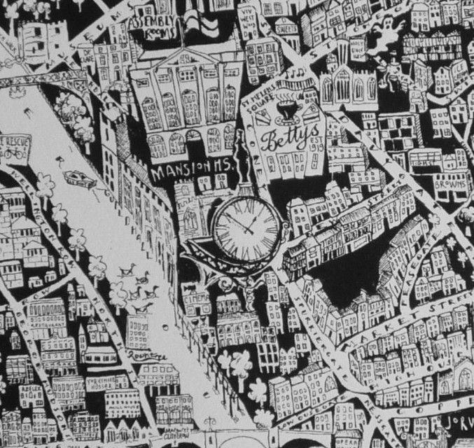 Caroline Harper. Hand-drawn maps   Detail of York