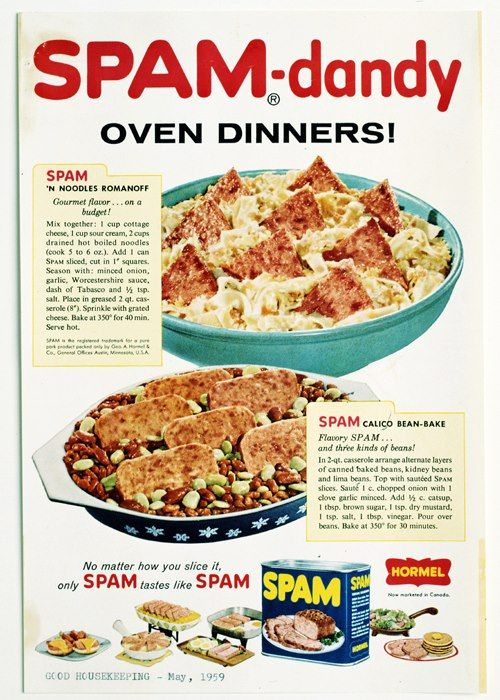 Whats Your SPAM DandyTM Brand Recipe Vintage Advertising Poster