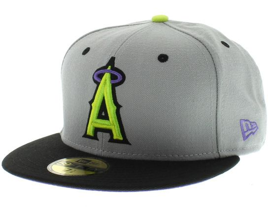 7414e43311f Custom California Angels Cap 59Fifty Fitted Cap by NEW ERA x MLB ...