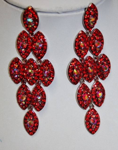 Red crystal chandelier earring a girl can never have enough red crystal chandelier earring aloadofball Choice Image