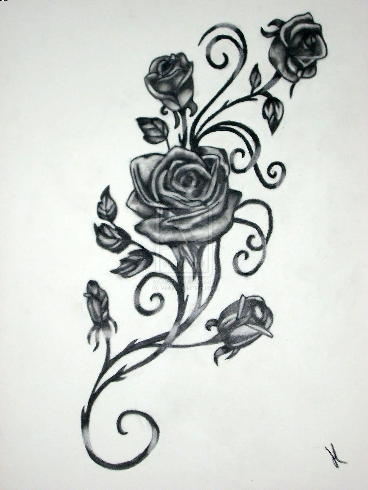 Vine tattoos designs and ideas page roses pinterest vine