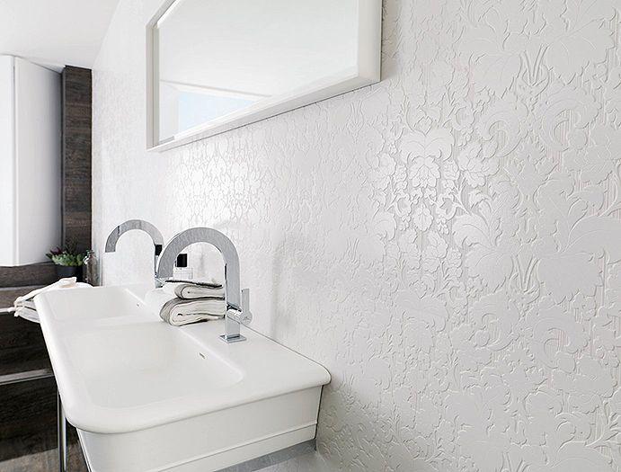 Porcelanosa Usa Bluebell White Dimensional Wall Wall Tiles Bathroom Wall Tile