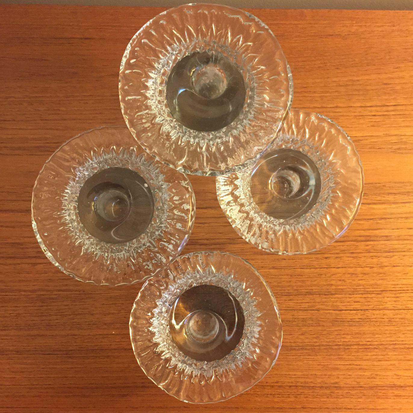 Vintage blenko glass mushroom candle holders set of research