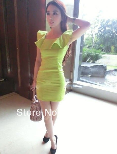 Summer Fashion women's flower petal slim waist sexy stretch one piece Dress girl's lady clothes   wholesale retail $78.80