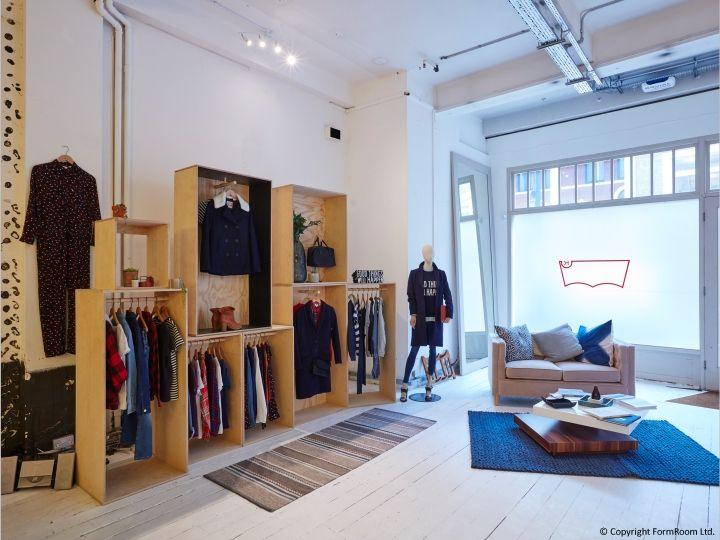levi s showroom by formroom london uk retail design blog