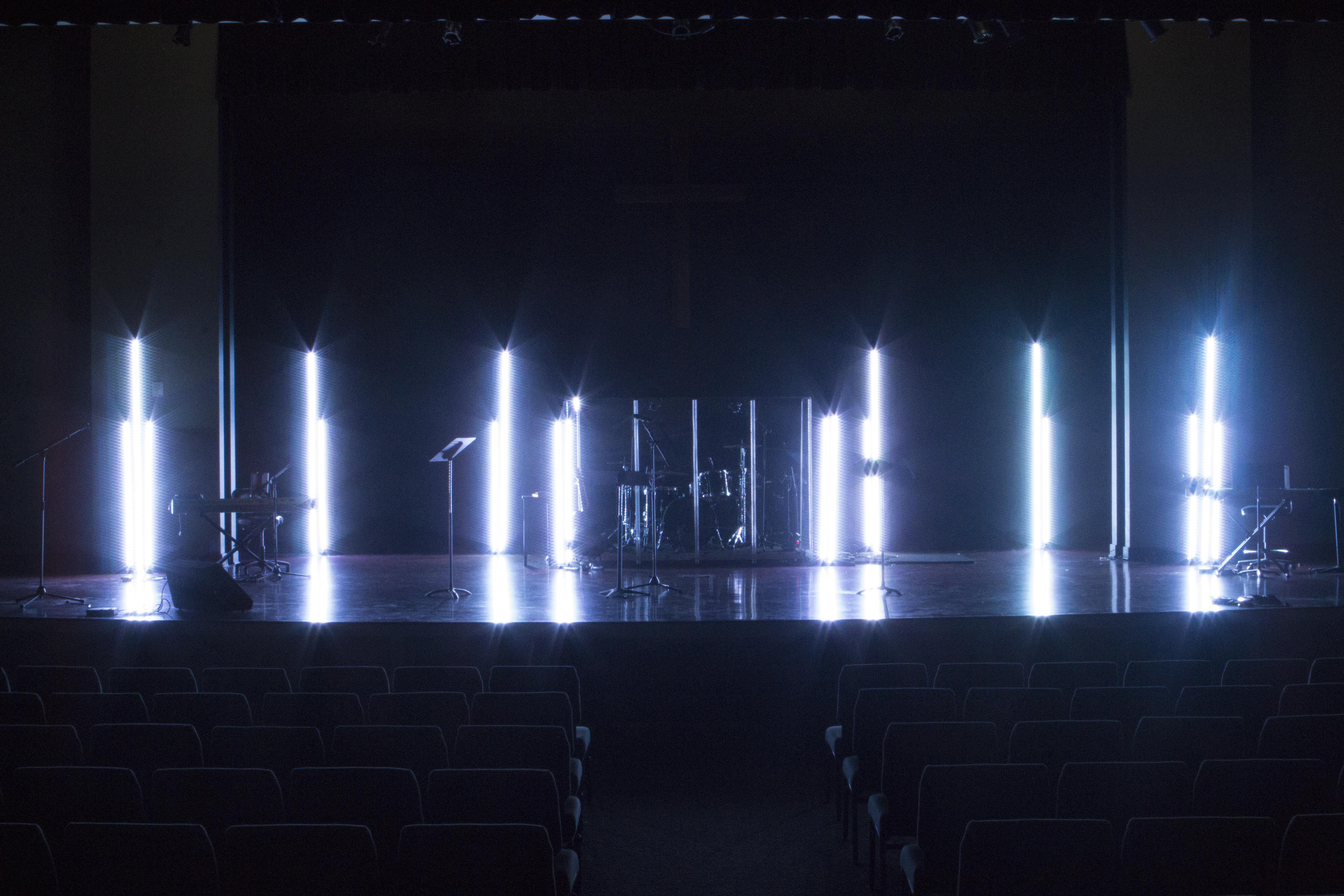 Led Glow Sticks Stage Lighting Design Church Stage Design Led Stage Lights
