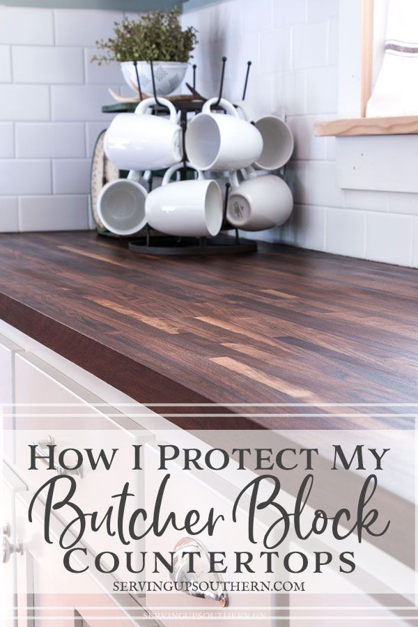 How I Protect My Butcher Block Countertops In 2020 Butcher Block Countertops Kitchen Diy Butcher Block Countertops Butcher Block Countertops