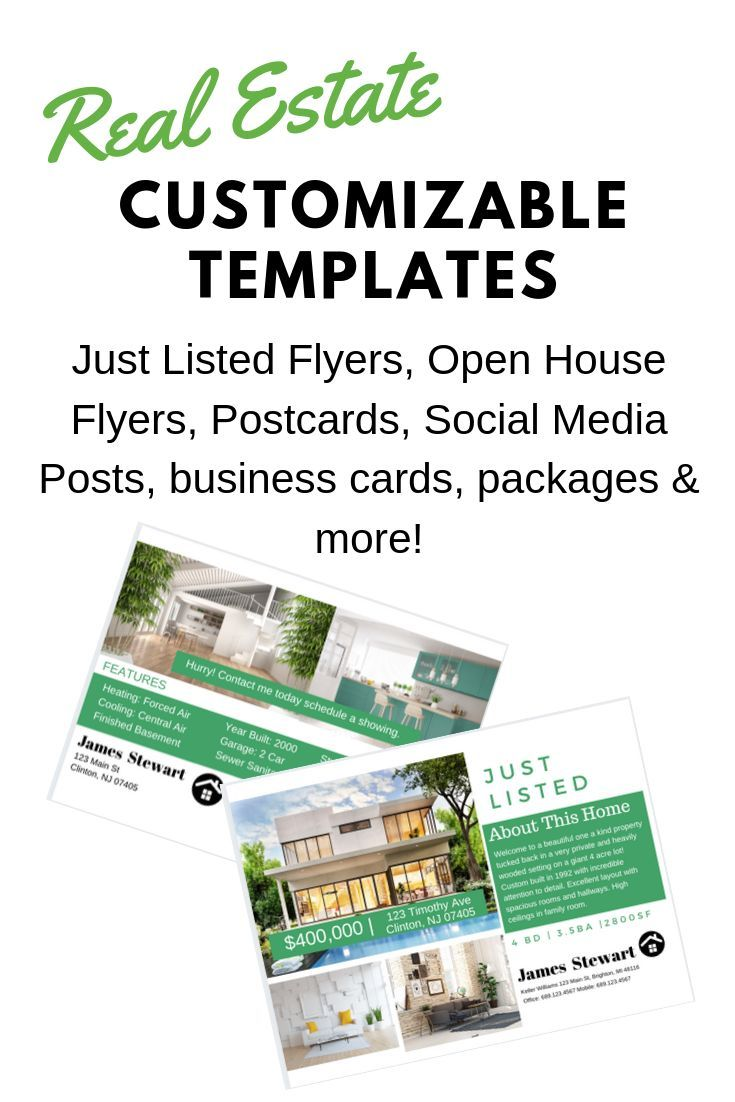 Easy To Customize Canva Templates For Real Estate Agents Make An