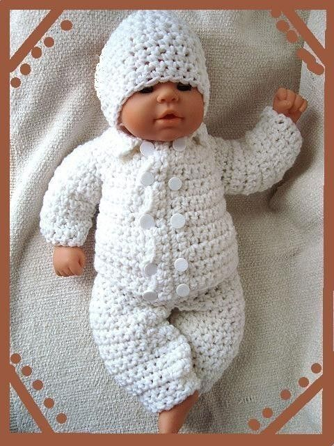 Crochet Pattern Boy Baby Christening Outfit 226 Double