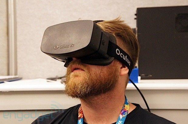 Oculus Rift Hd Prototype Vr Headset Appears At E3 We Go Hands